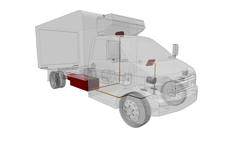 E-mobility reference cooling truck